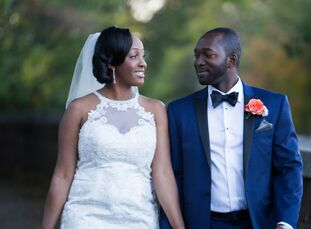 Renee Russell (28 and an accountant) and Kyei Aboagye (36 and an accountant) planned a wedding that honored both of their heritages, Trinidadian and G