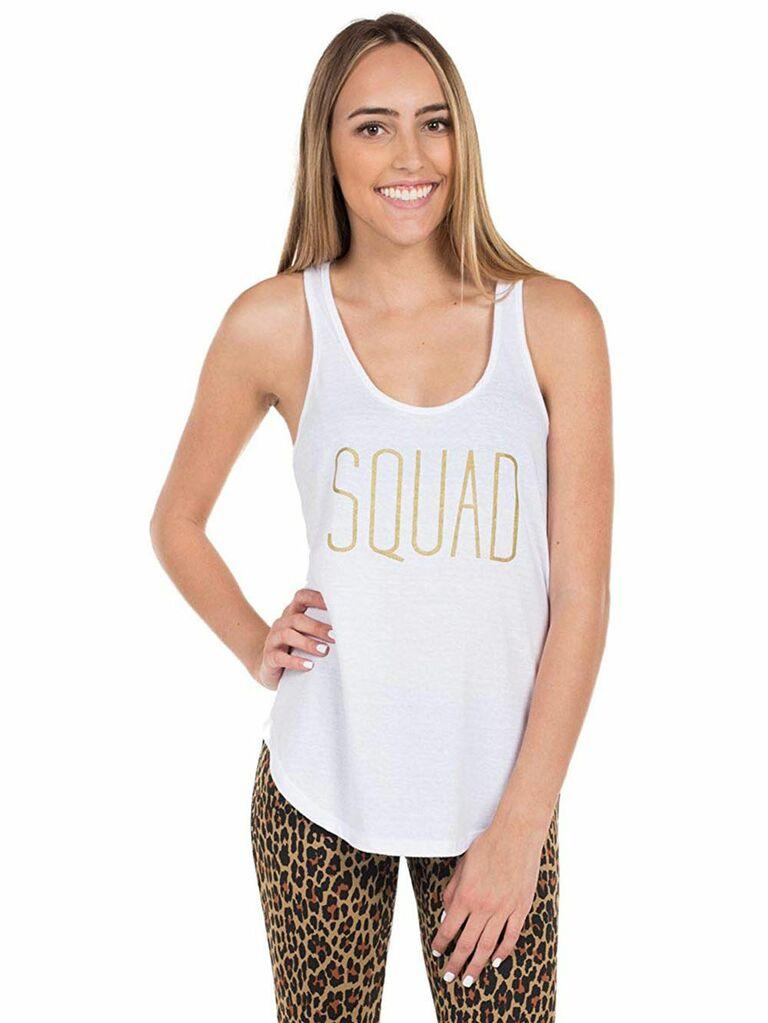"""Squad"" bachelorette tank top"