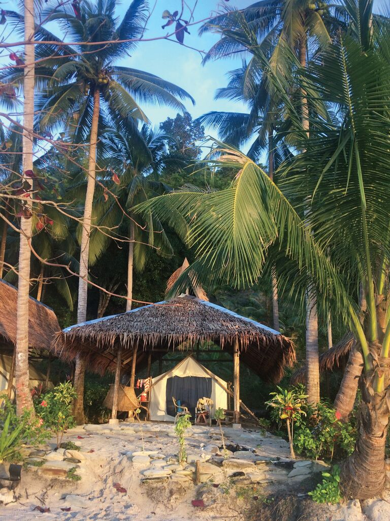 Outdoor hut with tent in the Philippines