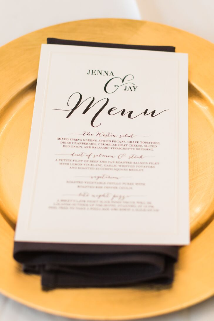 Gold Plates and White Menus