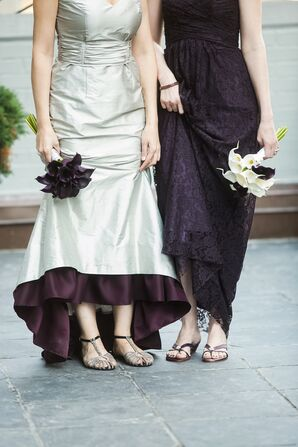 Silver and Purple Wedding Dresses
