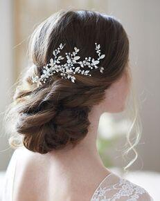 Dareth Colburn Quinn Floral Vine Hair Clip (TC-2313) Silver Pins, Combs + Clip