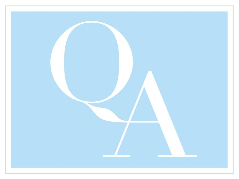 Blue and white Q&A