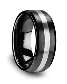 Mens Tungsten Wedding Bands W349-FBCT Tungsten Wedding Ring