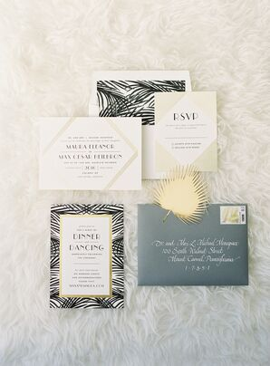 Palm Springs-Inspired Art Deco Invitations