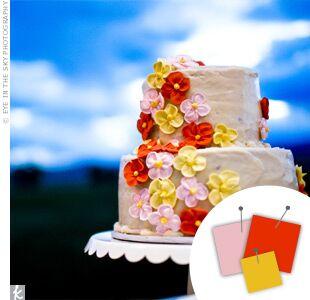 Wedding Color Combo: Pink + Orange + Yellow