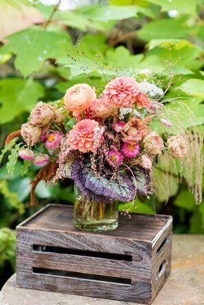 Modern Pink Bouquet with Dahlias