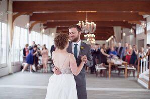 Crystal-Embellished, Open-Back Wedding Dress