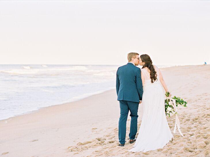 BHLDN White Mermaid-Style Wedding Dress