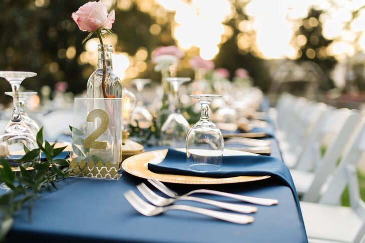 Lucite and Gold Table Number