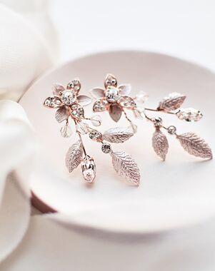 Dareth Colburn Katie Floral Crystal Earrings (JE-4156-RG) Wedding Earring photo