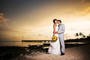Sunset Key West, Florida Beach Couple Shot