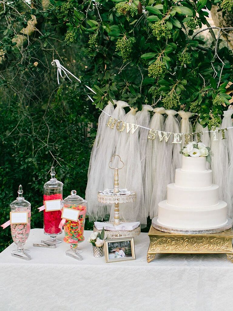 wedding candy station ideas and how to make your own rh theknot com cheap wedding candy buffet boxes cheap ideas for candy buffet