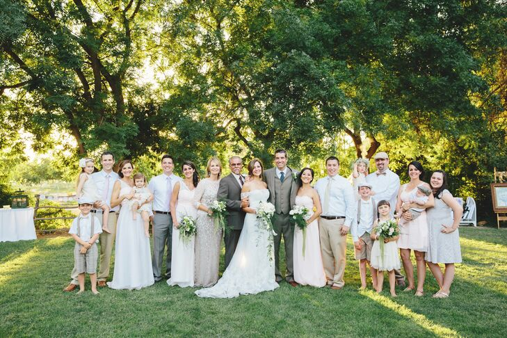 Blush and Tan Wedding Party