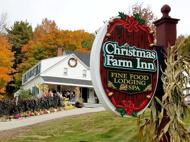 Christmas Farm Inn And Spa.This Christmas Themed Inn Is The Perfect Winter Wedding Venue