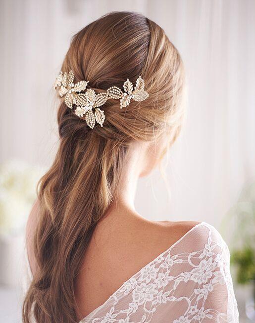 Dareth Colburn Andrea Floral Wedding Clip (TC-2428) Gold, Silver Pins, Combs + Clip