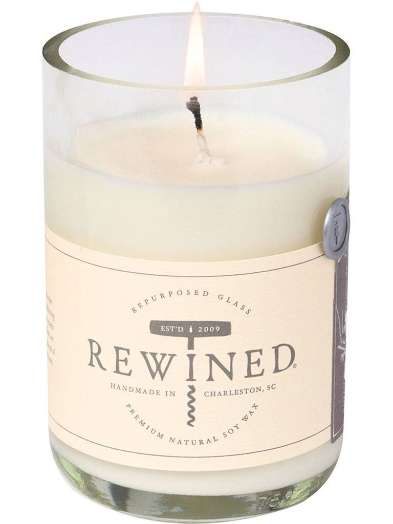 rose scented candle 7th anniversary gift