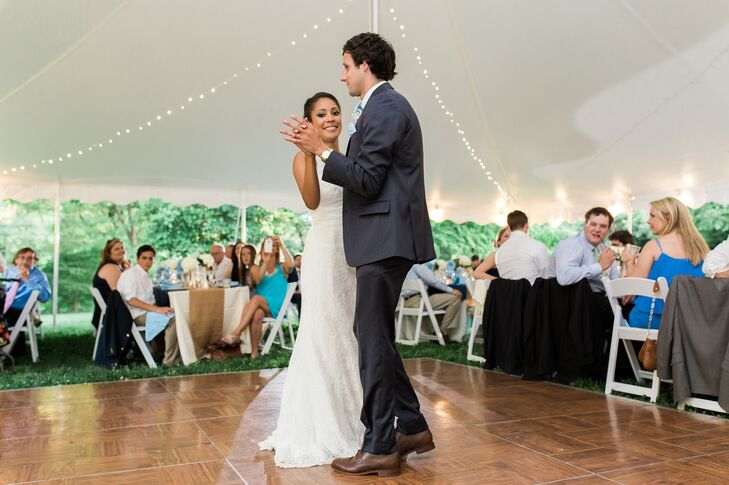 """The reception was very upbeat and most of our guests were on the dance floor the entire time,"" Chelsea says."