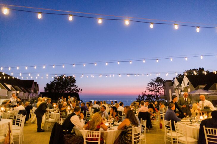 Beachside Reception with String Lights