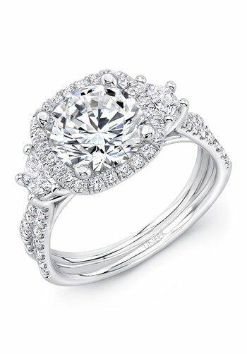 Uneek Fine Jewelry Cushion Cut Engagement Ring