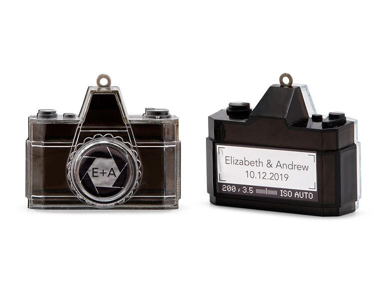 Novelty camera wedding favor