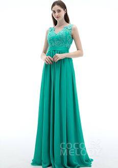 CocoMelody Bridesmaid Dresses PR3263 V-Neck Bridesmaid Dress