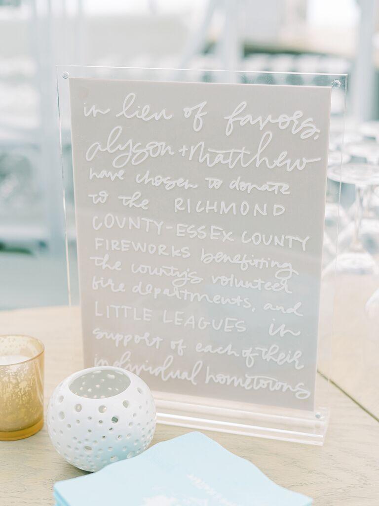 Hand-letter wedding sign
