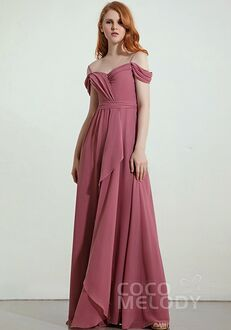 CocoMelody Bridesmaid Dresses RB0324 Off the Shoulder Bridesmaid Dress