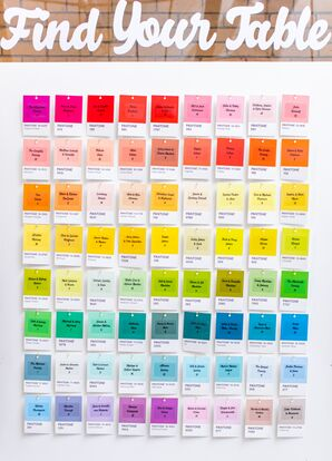 Seating Chart made of Colorful Paint Swatches