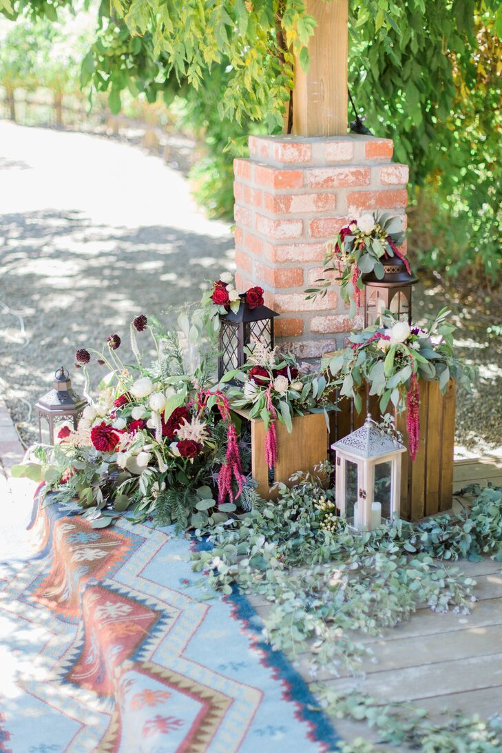 Bohemian Aisle Decorations
