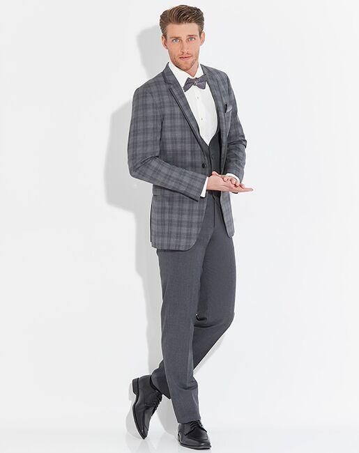 Allure Men Plaid Sterling Gray Tuxedo