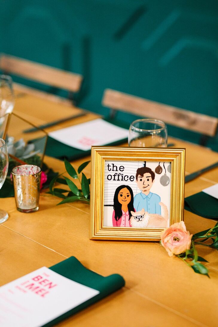 Television-Inspired Table Number Sign