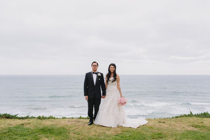 The couple made time for scenic oceanside photos.