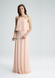 #LEVKOFF 7006 Halter Bridesmaid Dress