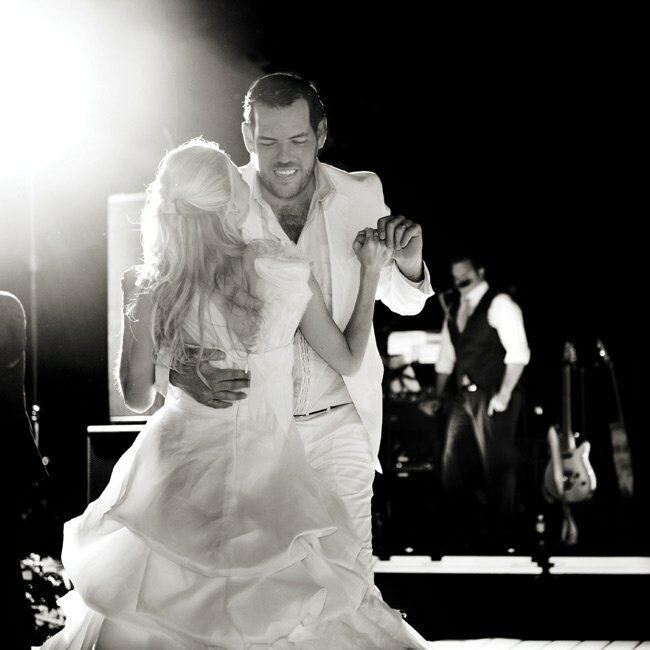 The couple shared their first dance to The Best Is Yet to Come by Michael Bublé. It's a classic, Amanda says.