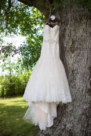 Maggie Sottero Strapless Lace Wedding Dress