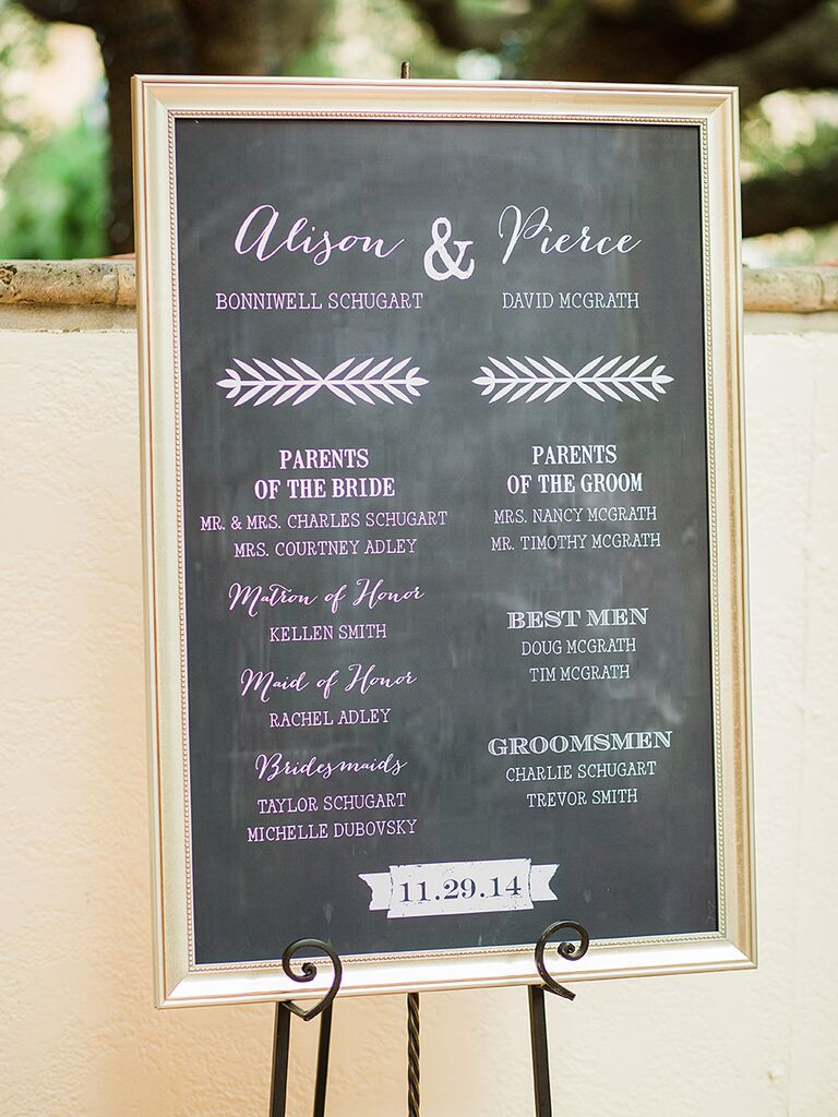 18 Chalkboard Wedding Sign Ideas You'll Love