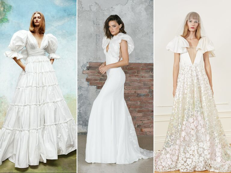 wedding dresses with puff sleeves