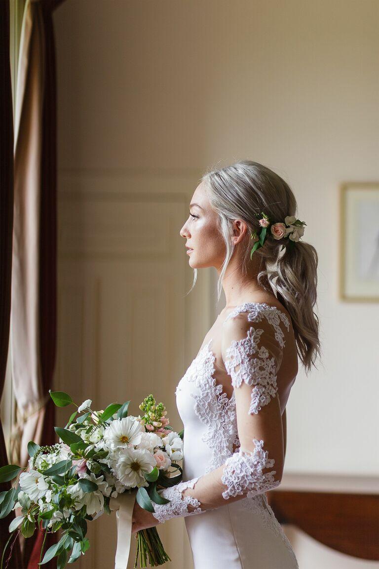 Low wedding ponytail