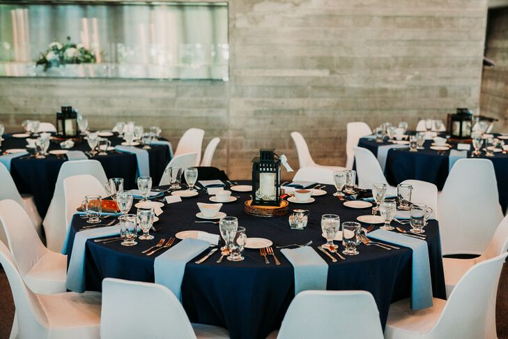 Navy and Pale Blue Dining Tables