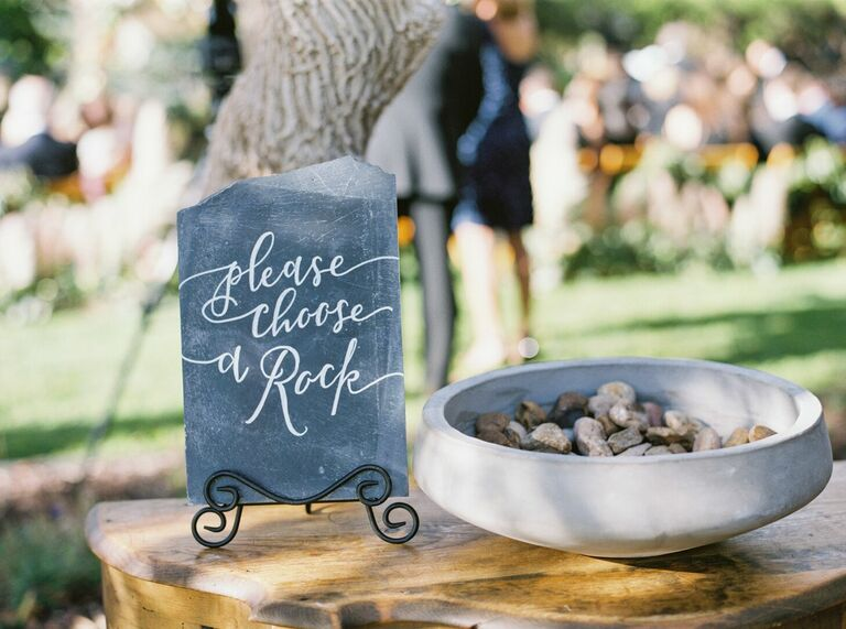 Rocks for ritual during wedding ceremony