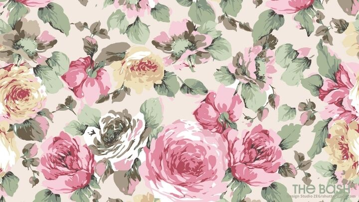 Floral Zoom Background