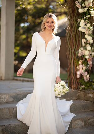 Essense of Australia D2972 Sheath Wedding Dress
