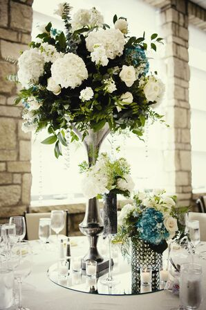 Towering White Centerpieces