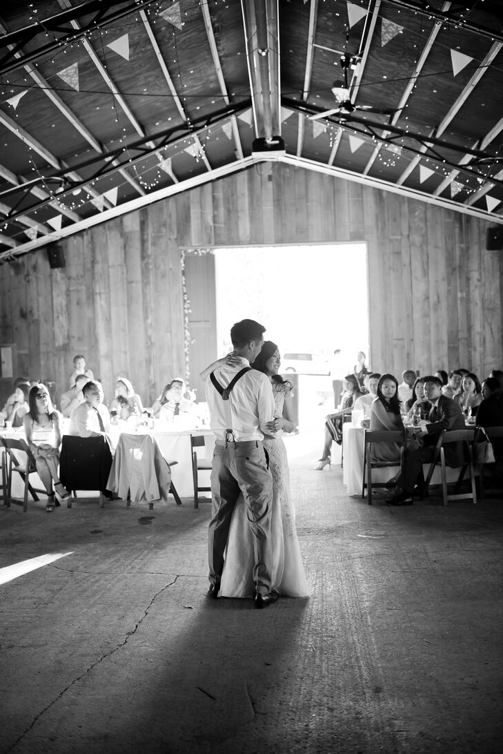 Bride and Groom First Dance at Misty Farm