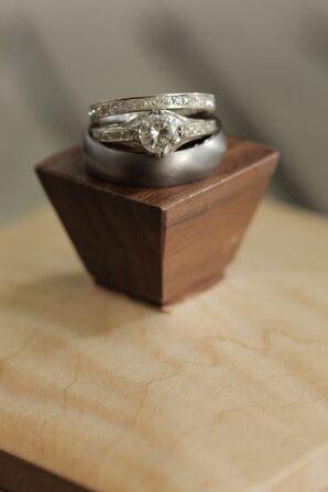 Custom Bridal Ring with Heirloom Diamond