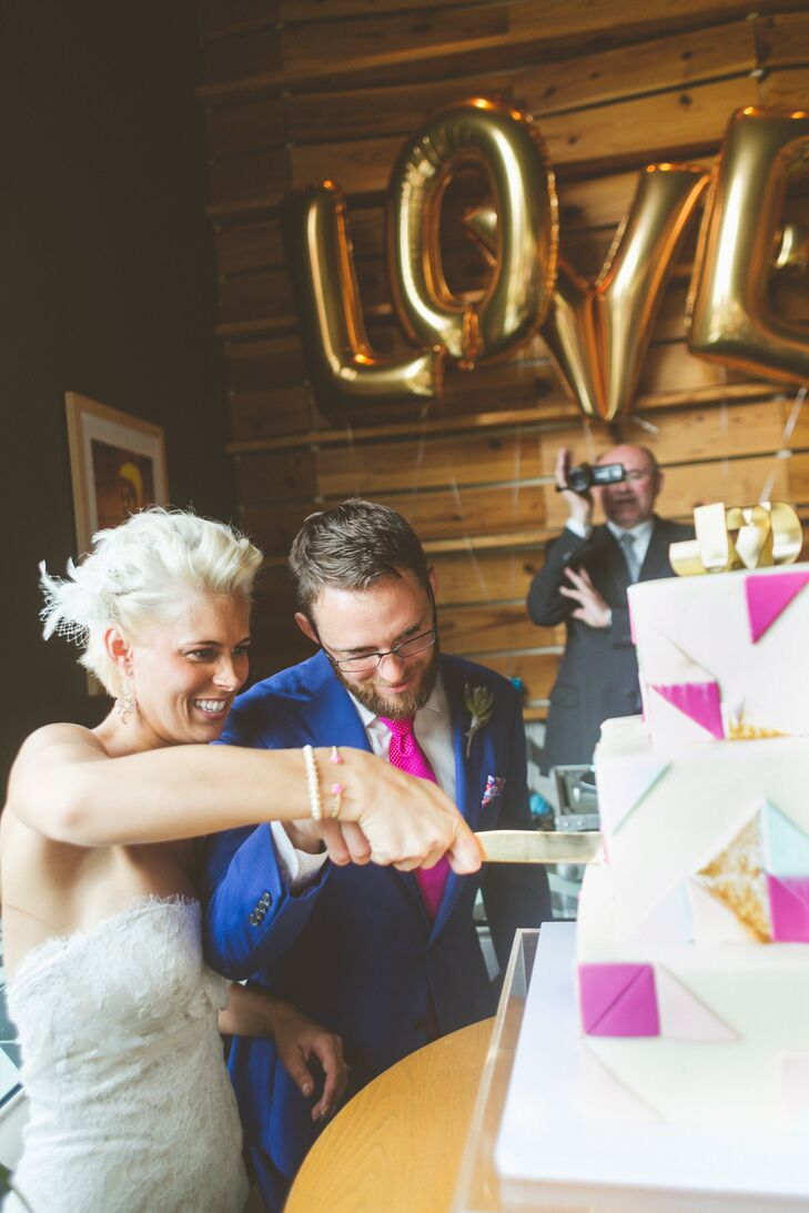 Geometric Wedding Cake Cutting