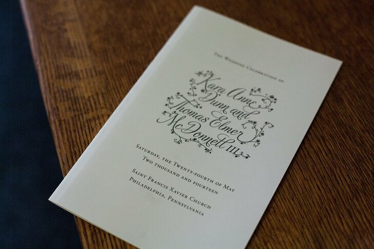 The simple, folded white programs provided a timeline for the celebration, and featured a fun floral font.