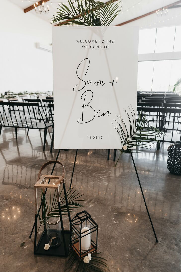 Modern, Romantic Decorations and Calligraphed Sign