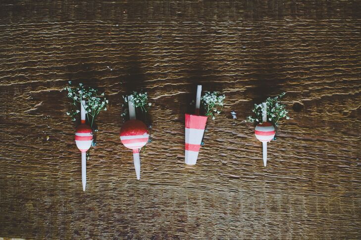 Nautical Red Buoy Boutonnieres